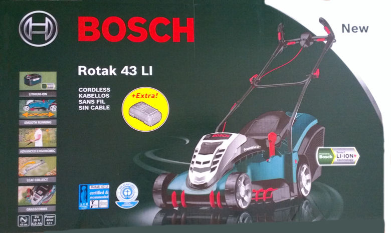 bosch rotak 43 li akku rasenm her test. Black Bedroom Furniture Sets. Home Design Ideas