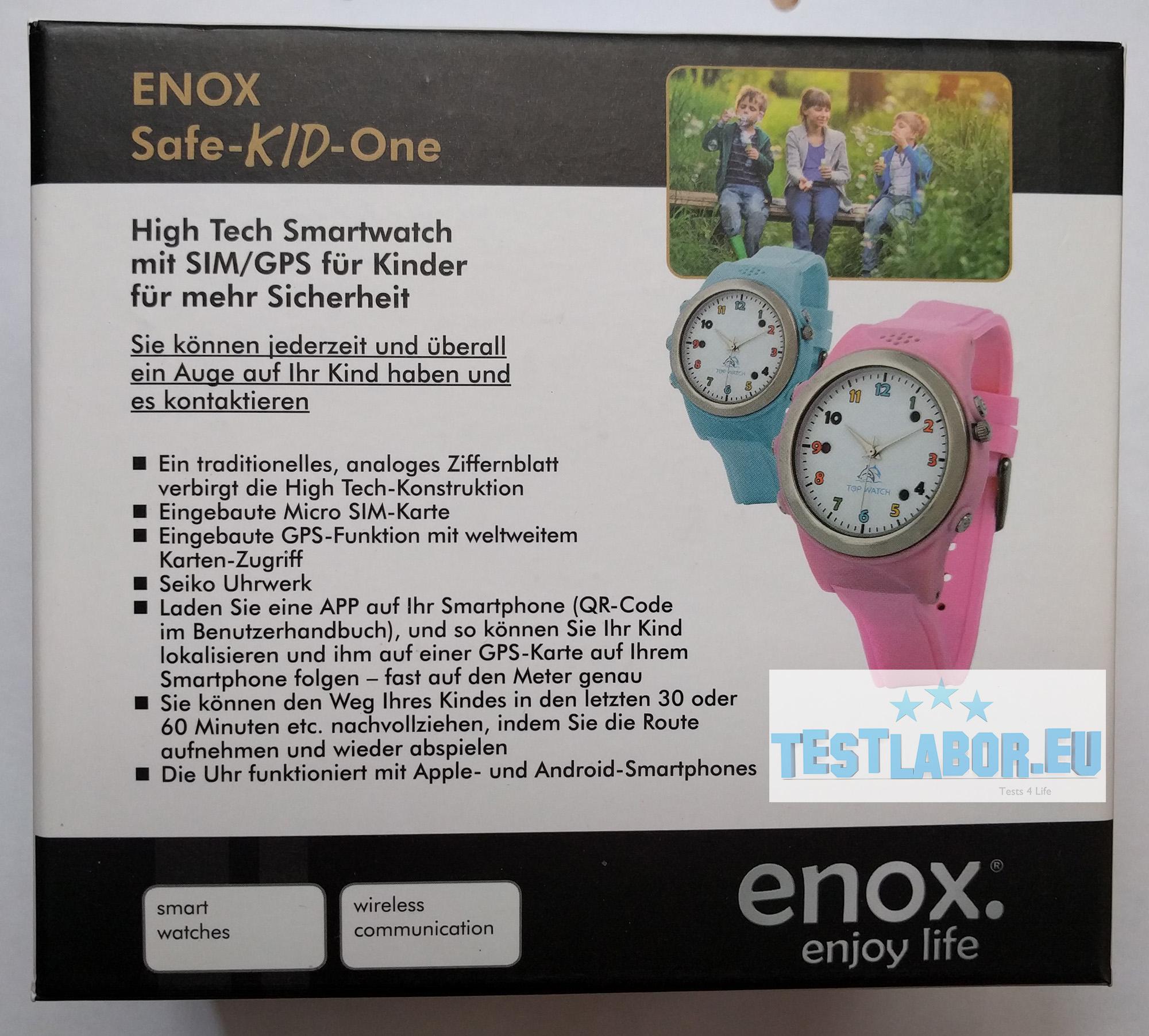 enox safe kid one kinder smartwatch. Black Bedroom Furniture Sets. Home Design Ideas