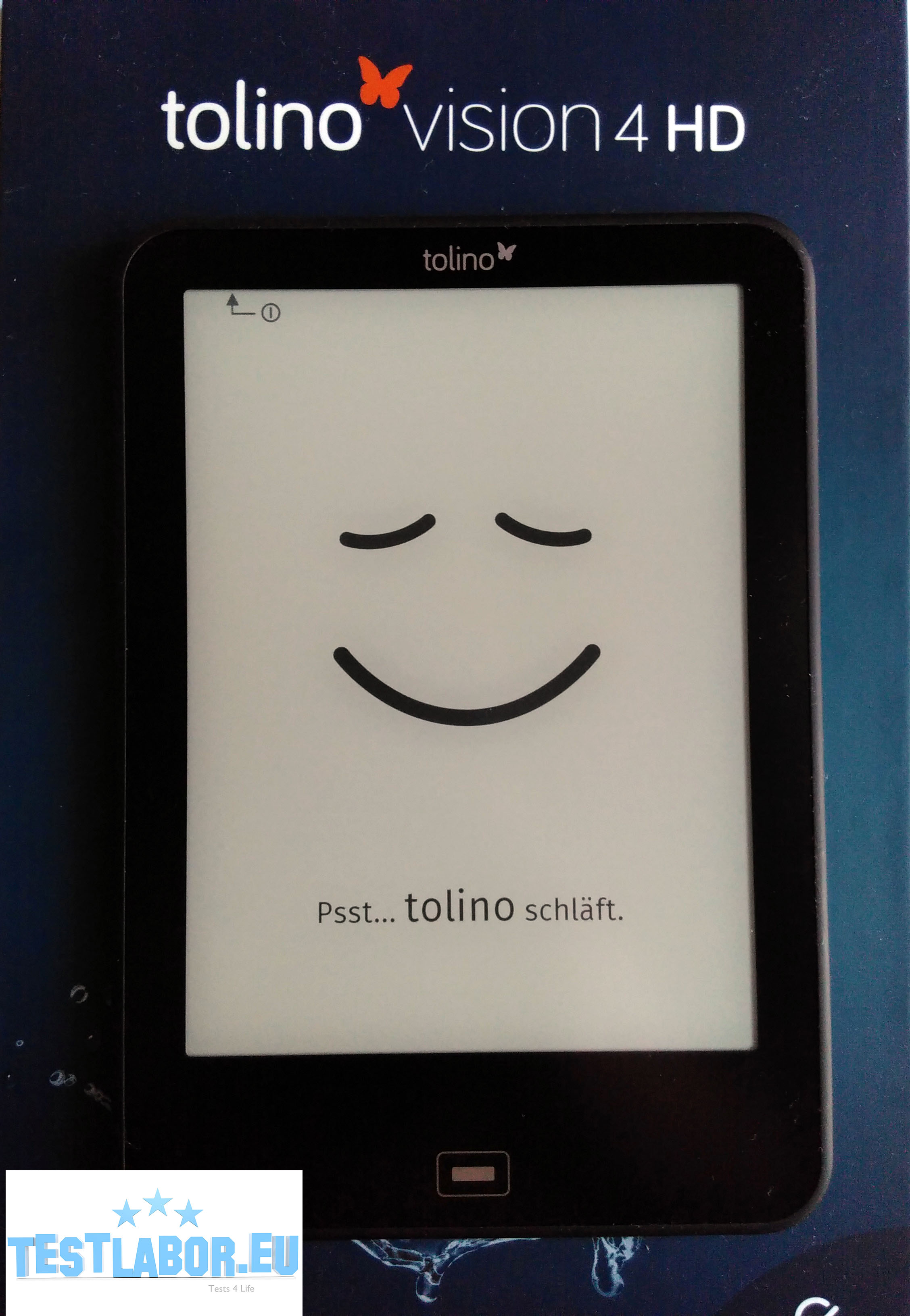 tolino vision 4 HD with Water Protection, ppi Carta E Ink display, illumination with smartlight, tap2flip, 8GB of memory, touch screen and several weeks battery life..